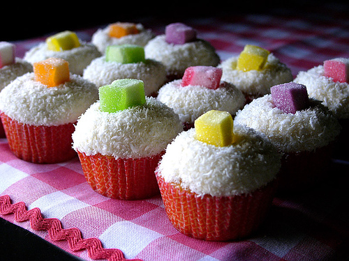 coconut jewel cupcakes