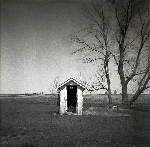 Salem's Corners outhouse