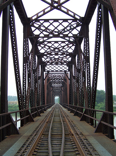 Iron railroad bridge