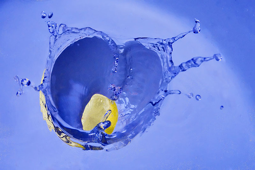 Heart is in the water by AHMED...