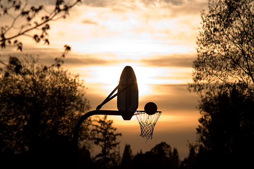 Basketball On A Warm Spring Evening by StuSeeger