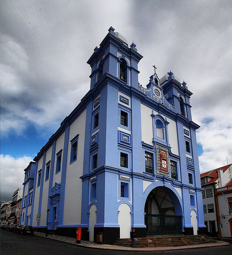 Azorean Blue Church by Fr. Antunes