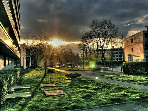 sunset in suburbia by [phil h]
