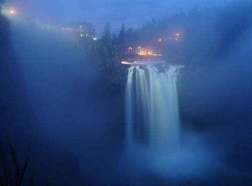 Blue Mists at Snoqualmie Falls by joiseyshowaa