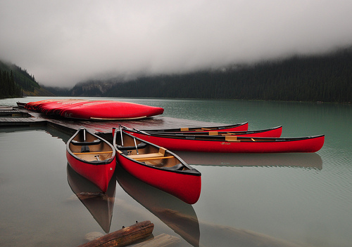 The Fleet of Red Canoes by Bill Gracey