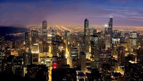 Chicago blue hour by sergilvs