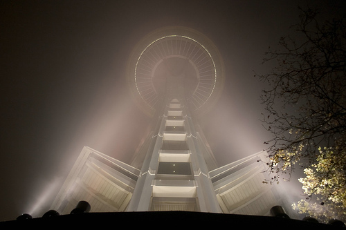 needle through the fog by Chris Blakeley