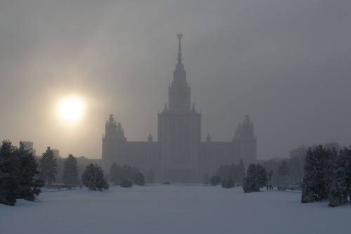 Moscow State University in a haze by Argenberg