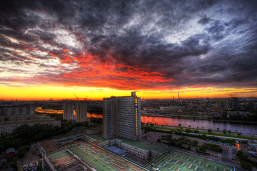 Moscow evening by cavin