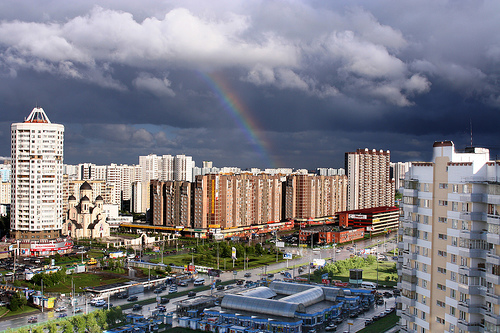 View from flat and rainbow by val