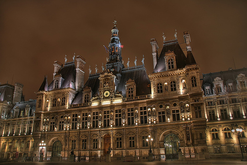Paris - Hôtel de ville by Jean Lemoine