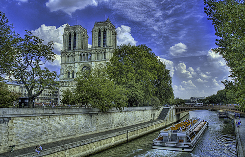 Notre Dame from the Seine by Stuck in Customs