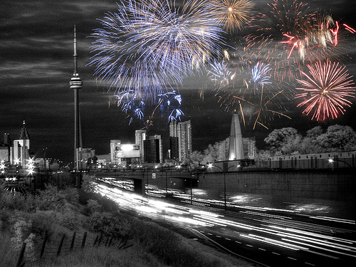 HDR IR Victoria Day, Toronto by Lone Primate