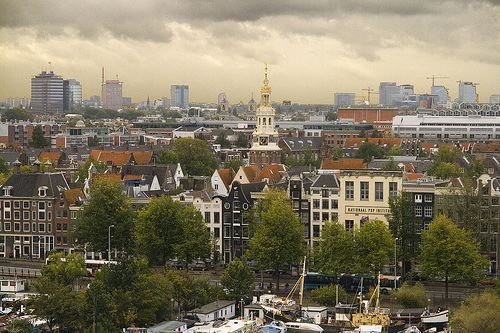 AMSTERDAM: VIEW FROM THE NEW LIBRARY