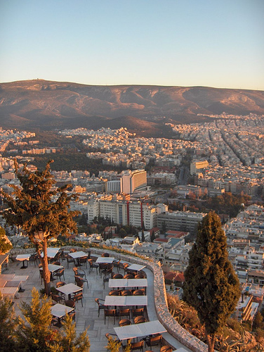 Athens from high on a hill