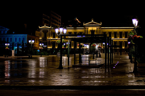 Kotzia square by night