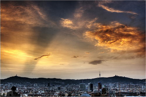 Sunset over Barcelona