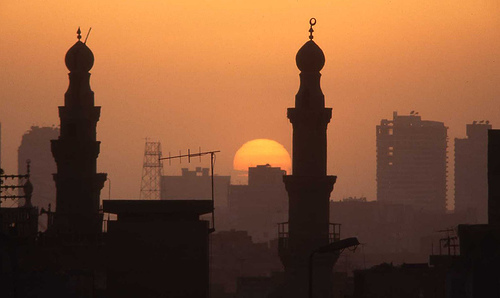 Sunset over Cairo by wuji9981