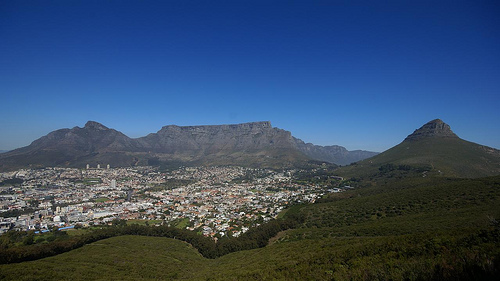 Wide angle view of Table Mountain by DanieVDM