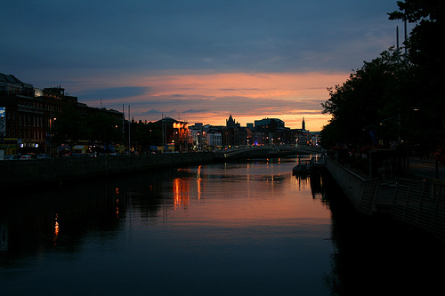 Sunset on Dublin