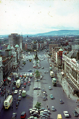 O'Connell St. Dublin from Nelson's Pillar 1964