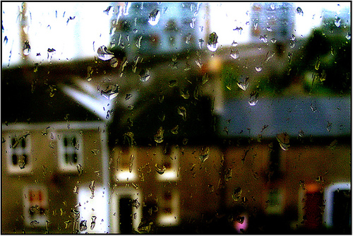 rainy dublin through my window