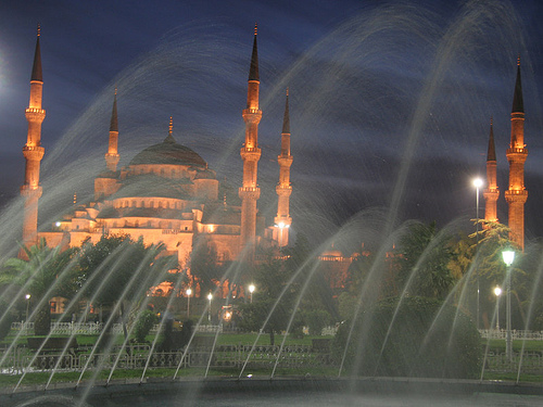 Blue Mosque by night by Patrick Mayon