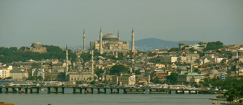 Hagia Sophia and Eminonu by Senol Demir