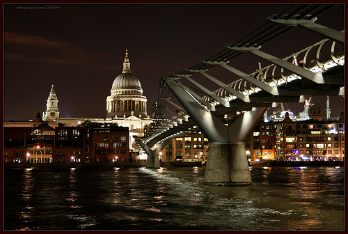 Millenium Bridge & St. Paul's Cathedral - London