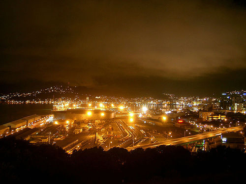 View of Wellington Rail yards