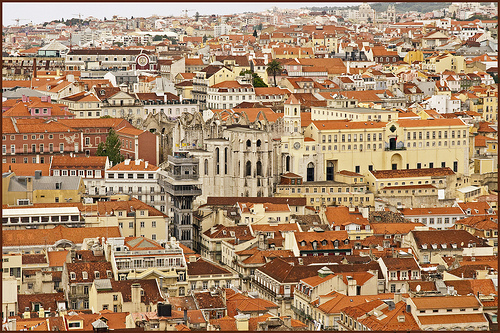 The rooftops of Lisbon