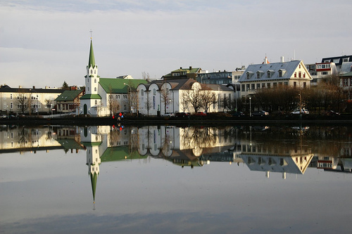 Tjörnin Reflection by Tom Olliver