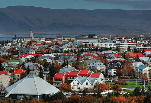 A View of Reykjavik Iceland From The Pearl by Bob Jagendorf