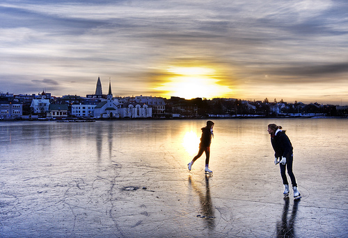 Morning Skaters in Iceland by Stuck in Customs