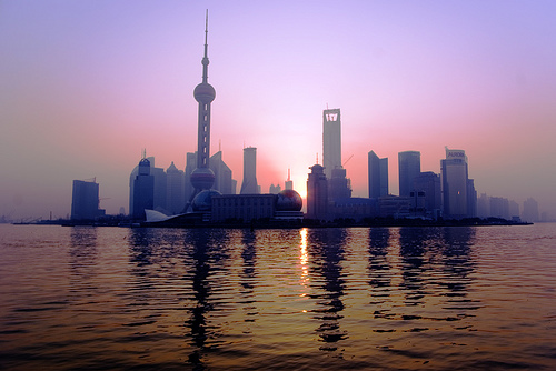 Sunrise on pudong
