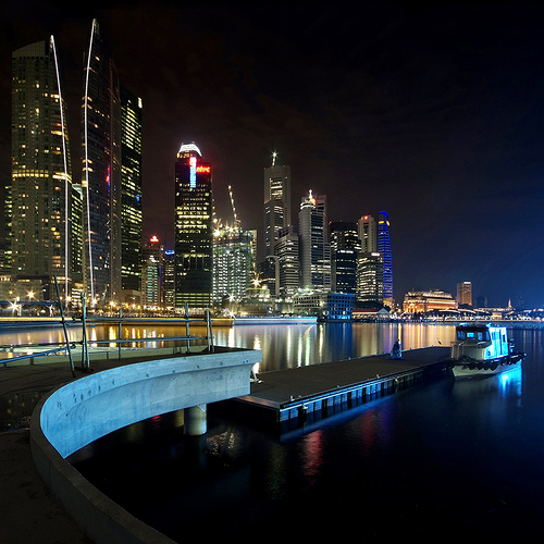 The New Marina Bay Promenade near completion – Singapore