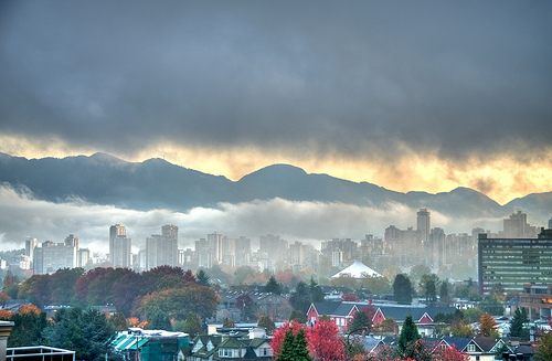 Foggy Sunrise in Vancouver Canada