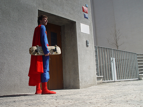 Skating Superman