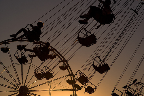 swing into the sunset