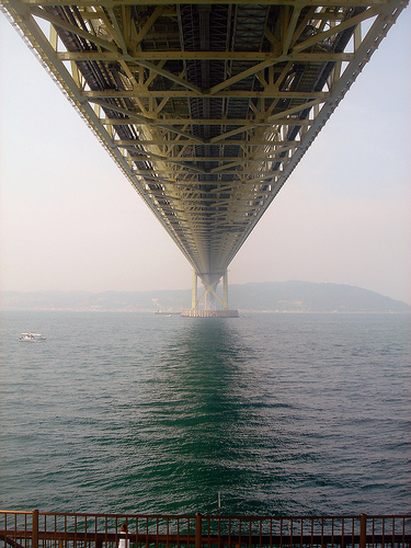 World's longest suspension bridge, in Hyogo
