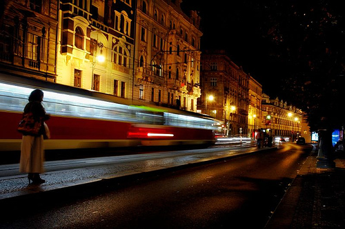 Streetcar to the night of Prague