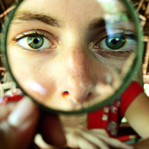 magnifying