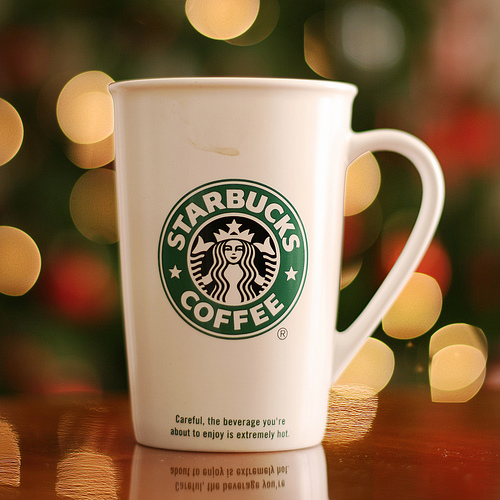 Starbucks' Christmas Bokeh by Piero Fissore