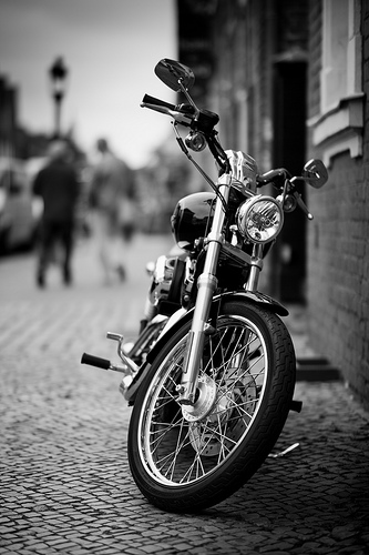 bw motorcycle