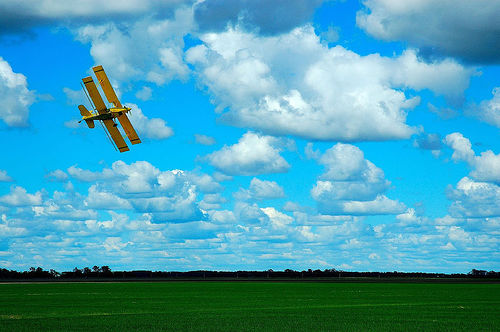 Spring on the Prairie - Biplane