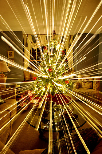 christmas light painting