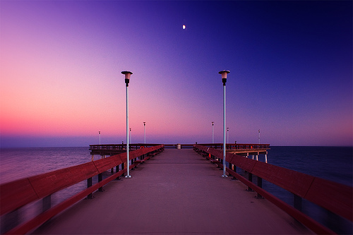 Half Moon on the Pier