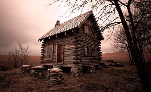 Log Cabin on Wabaunsee Lake