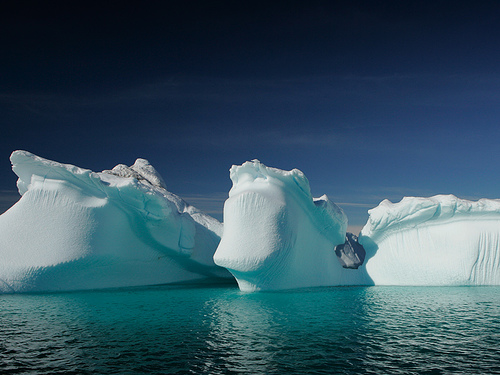 Icebergs in Greenland by Nick Russill