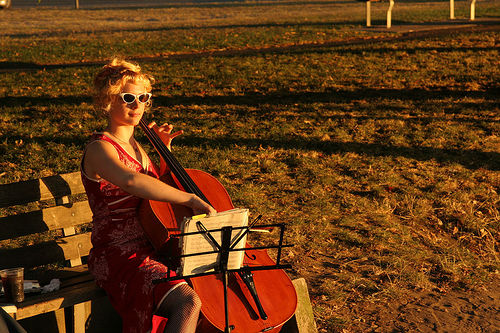 Cello Blonde
